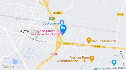 Kyriad Direct La Rochelle Sud Aytré Map