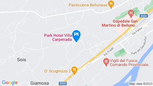 Villa Carpenada Map