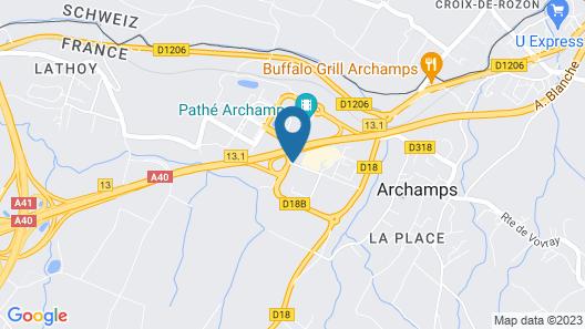 ibis Archamps Porte de Geneve Map