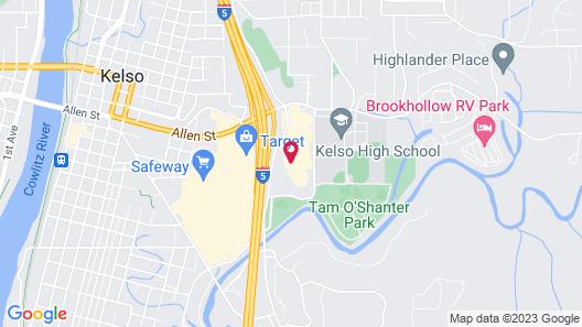 Super 8 by Wyndham Kelso Longview Area Map