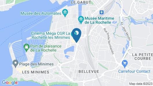 Kyriad La Rochelle Centre - Les Minimes Map