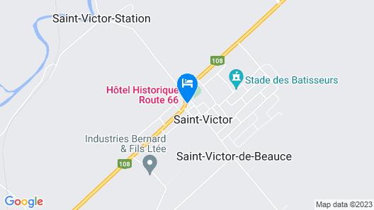 Hôtel Historique Route 66 Map