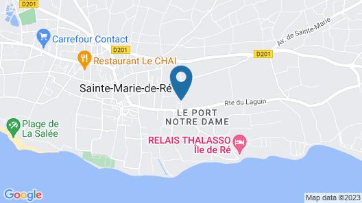 Hôtel de Ré, The Originals Boutique Map