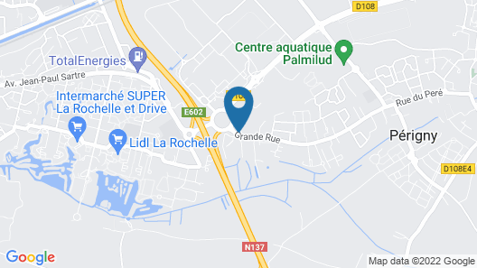 Brit Hotel La Rochelle Périgny Map