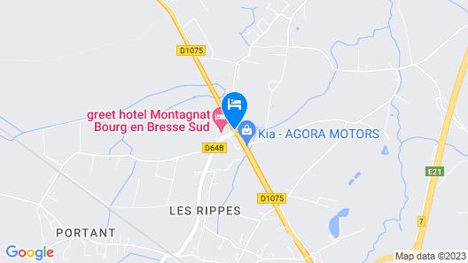 Premiere Classe Bourg en Bresse - Montagnat - Ainterexpo Map