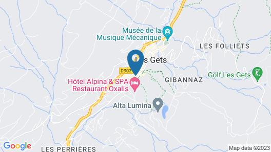 Chalet-Hôtel La Marmotte, La Tapiaz & SPA, The Originals Relais (Hotel-Chalet de Tradition) Map