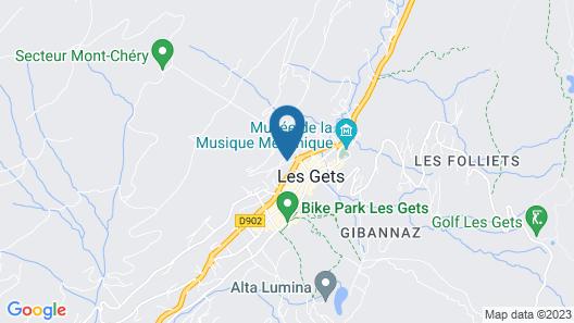 Les Gets - Chalet Cocon des Neiges Neuf Centre Station 18 Pers / Tout Confort Map
