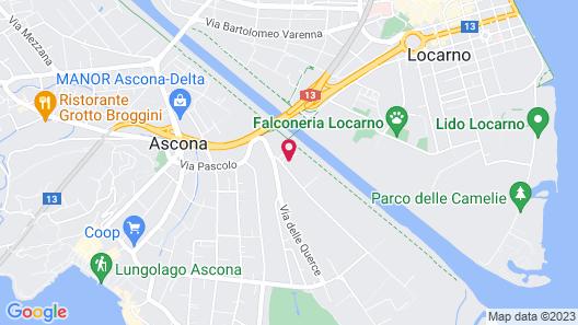 Villa Favorita - Parkhotel Delta Map