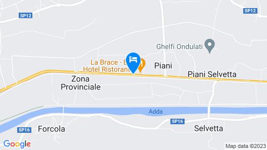 La Brace Hotel & Restaurant Map