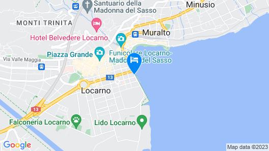 H4 Hotel Arcadia Locarno Map