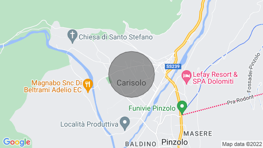 2 Bedroom Accommodation in Carisolo Map