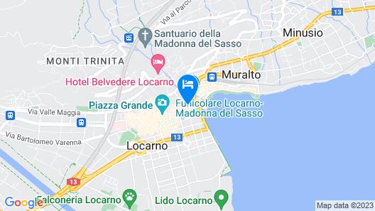 Hotel DU LAC Locarno Map