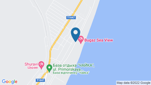 Black Sea Golden Bugaz Apartments Map