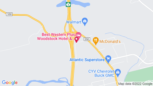 Best Western Plus Woodstock Hotel & Conference Centre Map