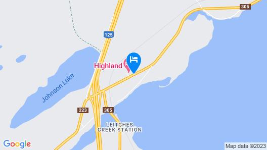 Highland Motel Map