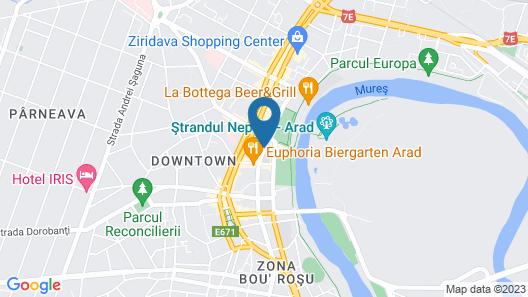 Hotel Continental Forum Arad Map