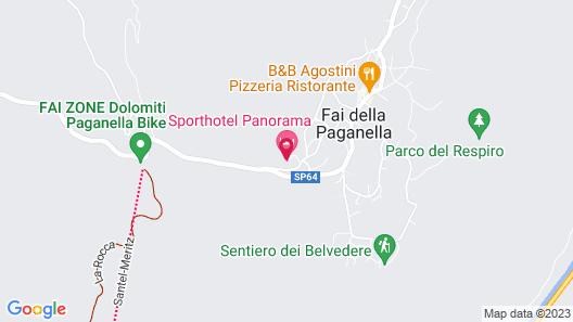 Alp & Wellnes Sport Hotel Panorama Map