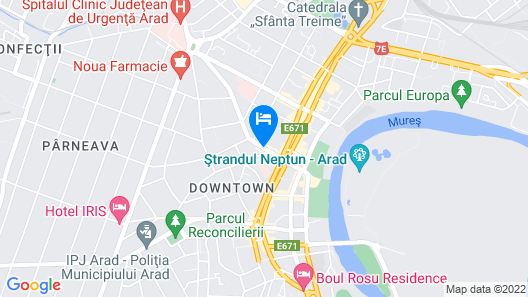 Best Western Central Hotel Map