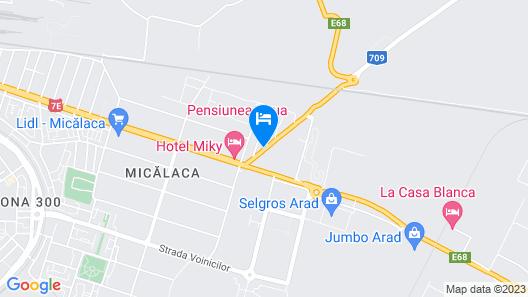 Cazare Arad Pensiune Roua Map