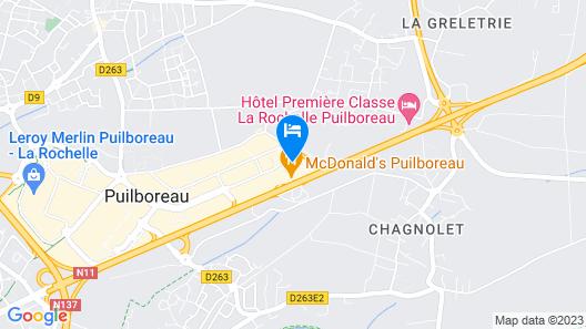 B&B Hotel La Rochelle Beaulieu Puilboreau Map