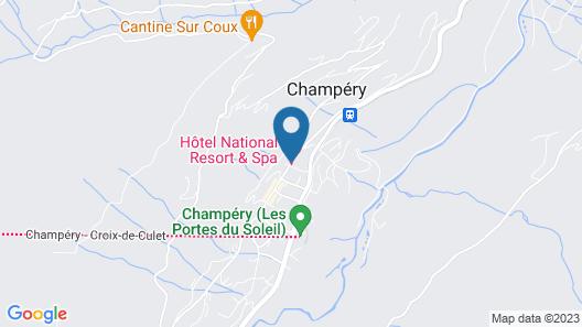 Hôtel National Resort & Spa Map