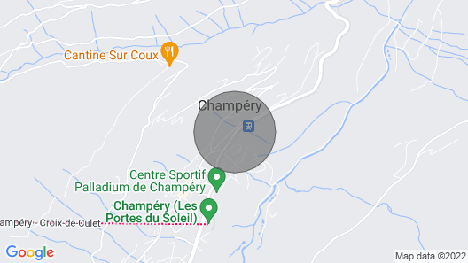 Penthouse Apartment for 6pp - Center of Champery, Close to ski Lifts Map