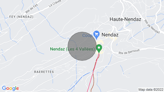 Superb Family Chalet Nendaz / Valais - 4 Valleys - Ski at the Foot .. Map