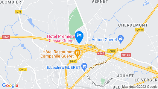 Premiere Classe Gueret Map