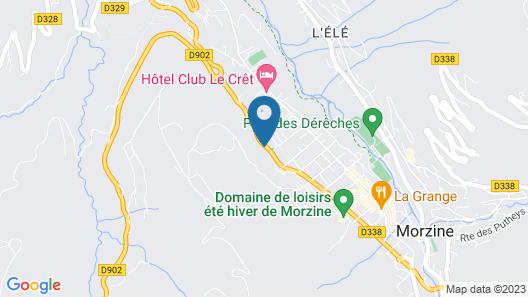 Chalet-Hotel Starlight Map