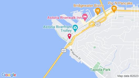 Best Western Astoria Bayfront Hotel Map