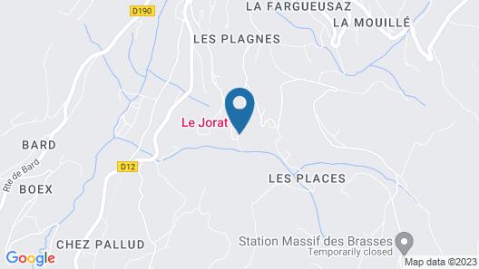 Chambres d'hôtes Le Jorat Map