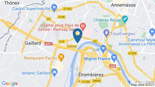 Mercure Annemasse Porte de Genève Map
