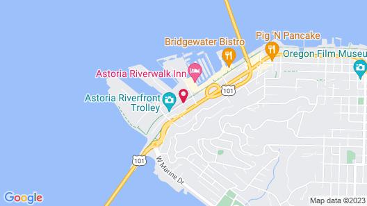 Astoria Riverwalk Inn Map