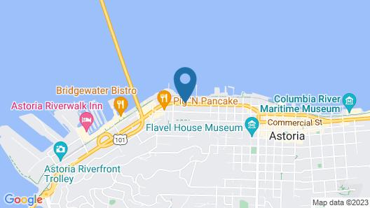 Astoria Rivershore Motel Map
