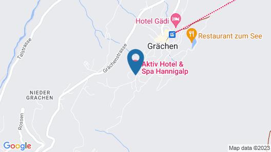 Aktiv Hotel & Spa Hannigalp Map