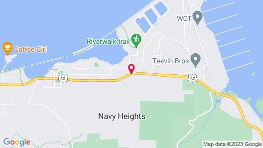 Astoria Crest Motel Map