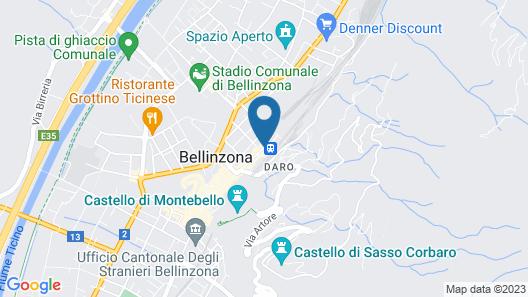 Hotel Internazionale Bellinzona Map