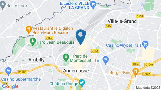 Campanile Annemasse Gare - Genève Map