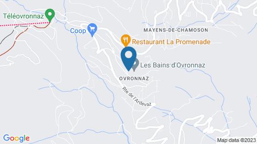 Les Bains d'Ovronnaz Map