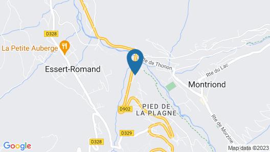 Chalet sur les Monts Morzine Map