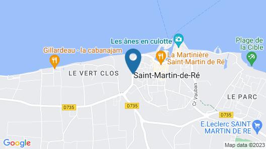 Le Clos Saint-Martin Hôtel & Spa Map