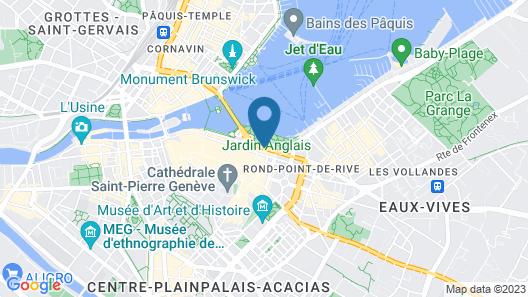 Hotel Metropole Geneve - Preferred Hotels & Resorts Map