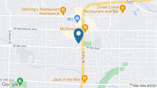 Studio 6 Kennewick, WA - Tri-Cities Map