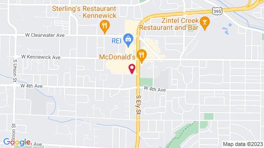 Motel 6 Kennewick, WA - Tri-Cities Map