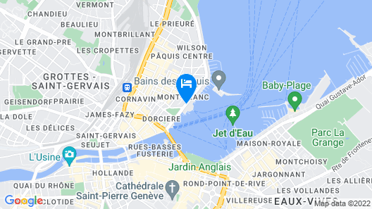 Beau Rivage Geneva Map