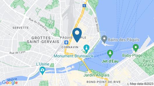 ibis Geneve Centre Lac Map