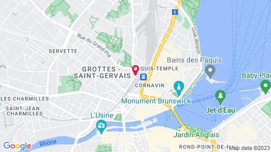 Le Montbrillant Hôtel Residence Map