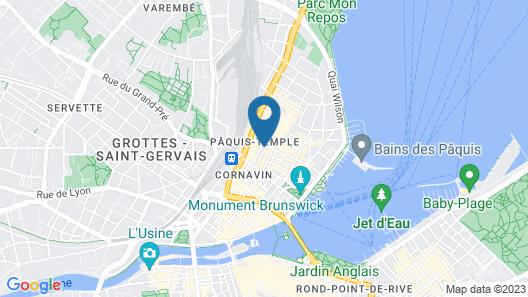 Hotel D Geneva Map