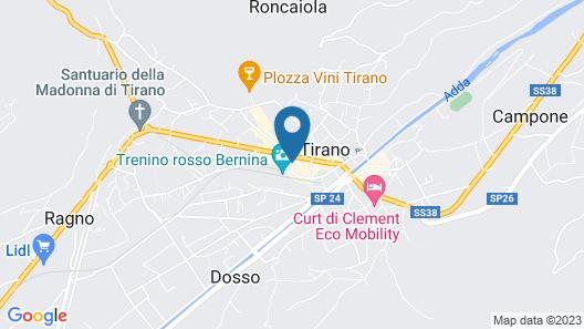 Bernina Express Rooms Map