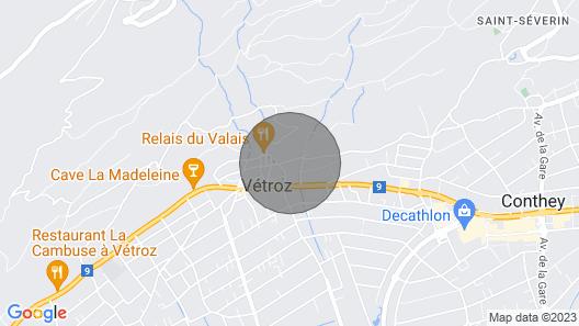Villa 10 Personnes au du Valais Grand Confort Map